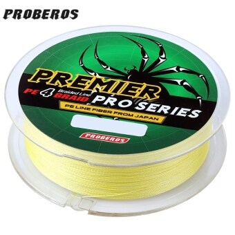 Harga PROBEROS 100M PE 4 Strands Monofilament Braided Fishing Line Accessory 10LBS(Yellow)