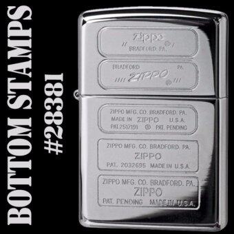 Harga Zippo 28381 Bottom Stamps High Polish Chrome USA