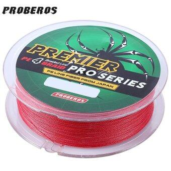 Harga PROBEROS 100M PE 4 Strands Monofilament Braided Fishing Line Accessory 40LBS(Red) - intl