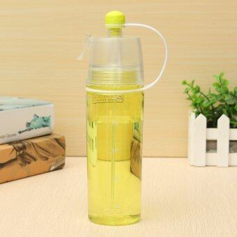 Harga Yellow Double-deck Sports Drink Spray Water Bottle Cold Insulation Cup Outdoor Bike Bicycle Cycling Hiking Sports Drink Bottle KC1364 - intl