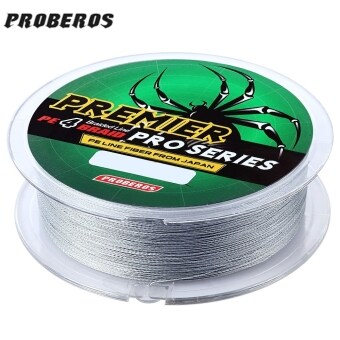 Harga PROBEROS 100M PE 4 Strands Monofilament Braided Fishing Line Accessory 35LBS(Gray) - intl