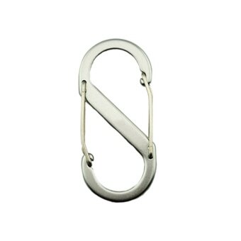 Harga Outdoor S-Shaped Buckle Snap Clip Mount Climbing Carabiner Chain Hanging Silver - intl