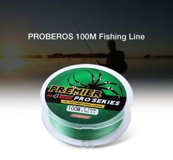 Harga PROBEROS 100M PE 4 Strands Monofilament Braided Fishing Line Accessory 70LBS(Green)