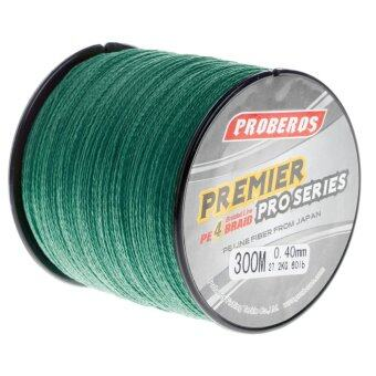 Harga Pro 300M Super Strong 4 Stands PE Braided Fishing Line Rope Cord New (0.8,Green) - intl