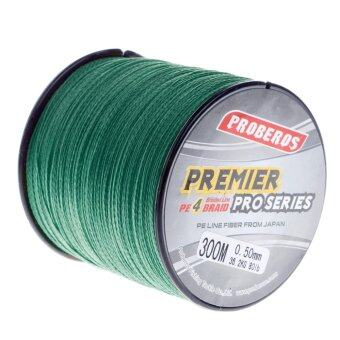 Harga Pro 300M Super Strong 4 Stands PE Braided Fishing Line Rope Cord New (8.0,Green) - intl