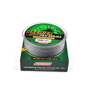 Harga 100M/110yards Super Strong PE 4stands Braided Fishing Line 8LB Grey - intl