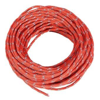 Harga String Windproof Camping Tent Cord Camping Kits Fluorescent Red - intl