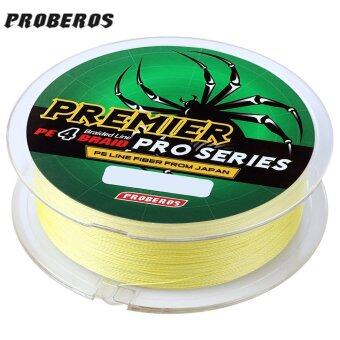 Harga PROBEROS 100M PE 4 Strands Monofilament Braided Fishing Line Accessory 20LBS(Yellow) - intl