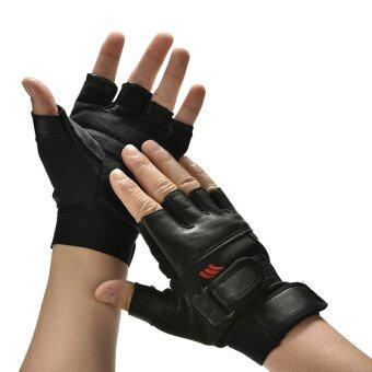 Harga Men Weight Lifting Gym Exercise Training Sport Fitness Sports Car Leather Gloves