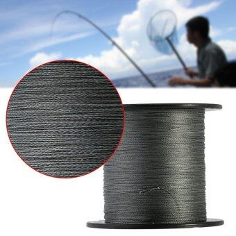 Harga 500m PE Braided 4 Strands Super Strong Fishing Lines Kite Rope Cord (Grey 6.0/60lb) - intl