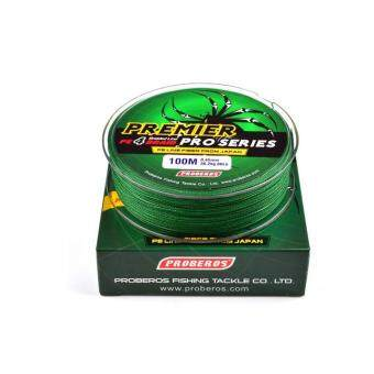 Harga 100M 0.6# 0.12mm Super Strong PE Braided Fishing Line 8LB Green - intl