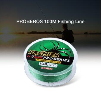 Harga PROBEROS 100M PE 4 Strands Monofilament Braided Fishing Line Accessory 40LBS(Green) - intl