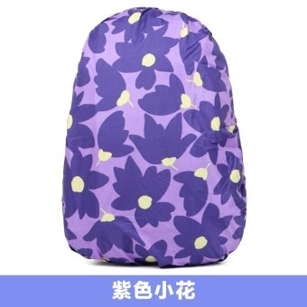 Harga 25-40L Camouflage Outdoor Bike Backpack Rain Proof Dust Proof Cover Shoulder Bag - Purple Flowers - intl