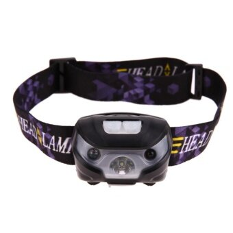 LED Motion Sensor Headlamp Headlight USB Rechargeable HeadFlashlight - intl