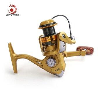 LIEYUWANG 12BB Full Metal Fly Fishing Reel Gold Disk Drag WheelYL1000 (Tyrant Gold) -