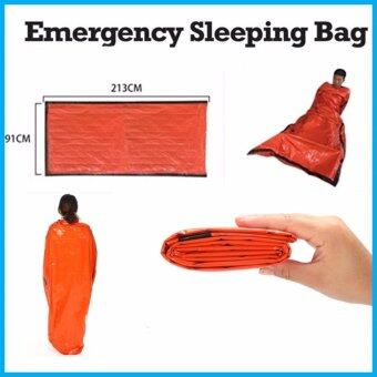 Outdoor Camping Emergency Warm Heat Waterproof Survival Sleeping Bag Orange - intl
