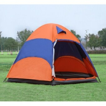 Outdoor tent factory direct 5-8 multi-person double rain camping camping hexagonal leisure beach tents - intl