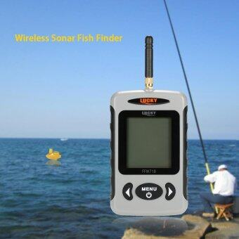 Portable Professional Sounder Wireless Sonar Fish Finder FishingProbe Detector Fishfinder with Dot Matrix - intl