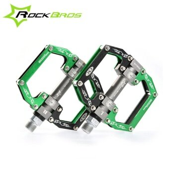 ROCKBROS HOT Sale MTB Ultralight Bike Bicycle Pedals Mountain RoadBike Pedal Cycling Aluminum Alloy 3 Styles Hollow Pedals(A Green) -intl