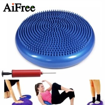 Harga Yoga massage cushion mat Universal Inflatable Yoga Wobble StabilityBalance Disc Massage Cushion Mat Yoga Fitness Balls (Blue) - intl