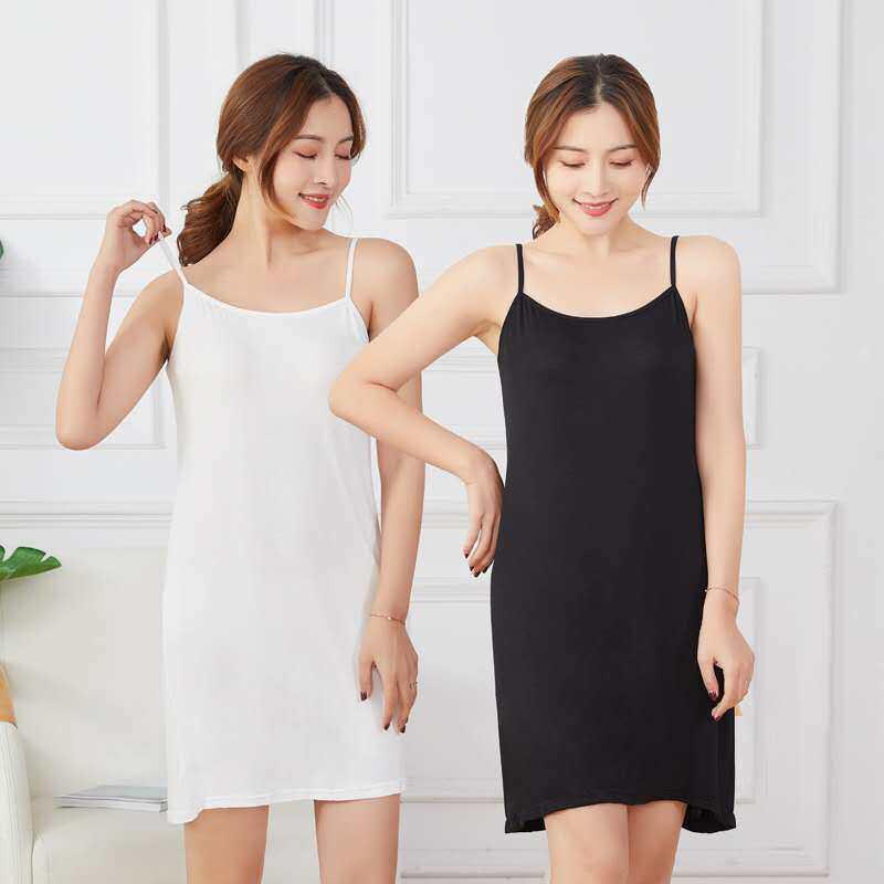 (เก็บโค้ด 3 ชิ้นส่งฟรี) ชุดซับใน ซับในตัวยาว มี 3 สี ยาว 33 นิ้ว Dress.