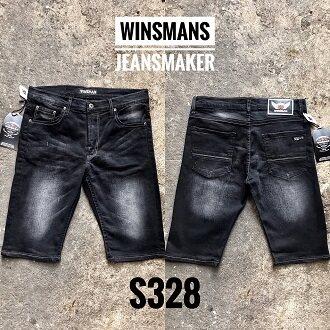 ยีนส์ยืด สั้นชาย กางเกงขาสั้น กางเกงยีนส์ขาสั้น เดฟ ผ้ายืด Skinny Winsman เป้าซิป Size. 28-42.