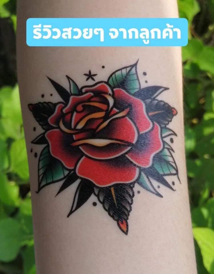 แทททู ติดมือ รอยสักแฟนชั่น แทททูกันน้ำ แทททูรอยสัก Sticker Tattoo (10 แถม 3) ขนาด 75x80mm.