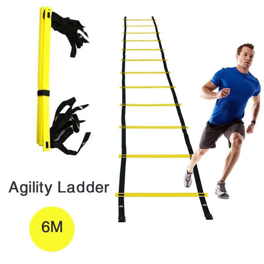 สายรัดความว่องไวบันไดสำหรับการฝึกความเร็วฟุตบอล Agility Ladder For Soccer Speed Training Stairs Soccer Football Speed Training 6 Meters 8 Knots Alphamart.