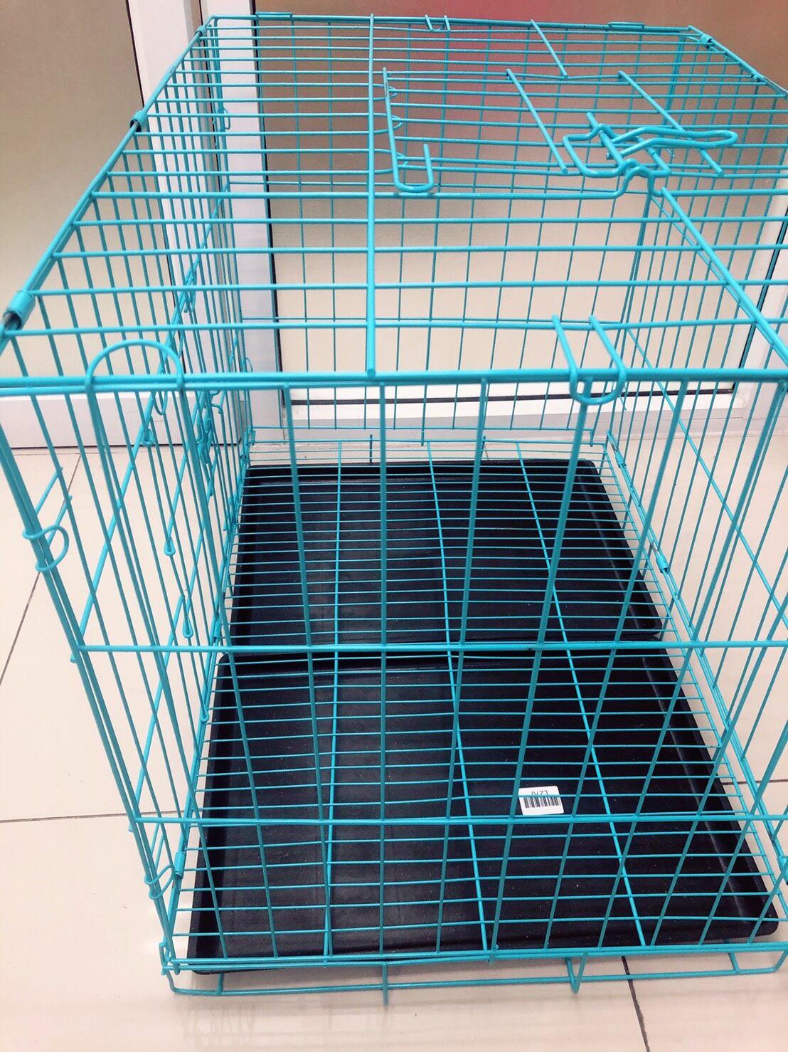 กรงสุนัข กรงแมว กรงสัตว์เลี้ยง สามารถเปิดได้ฝาบน มีถาด สีดำ ขนาด 60*42*50 Cm สินค้าพร้อมส่ง.