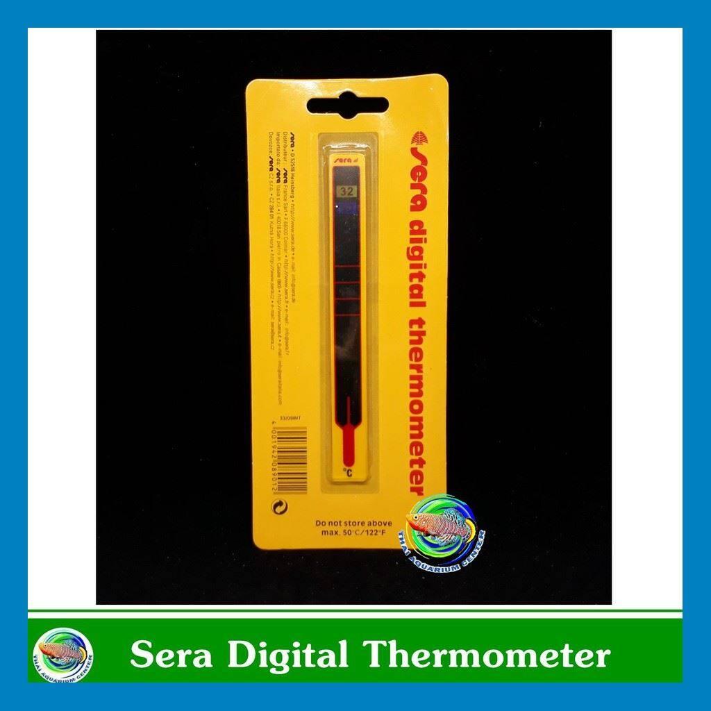ร้านแนะนำ >>Sera Digital Thermometer วัดอุณหภูมิน้ำ แบบแถบติดด้านนอกตู้ปลา << มีเก็บเงินปลายทาง
