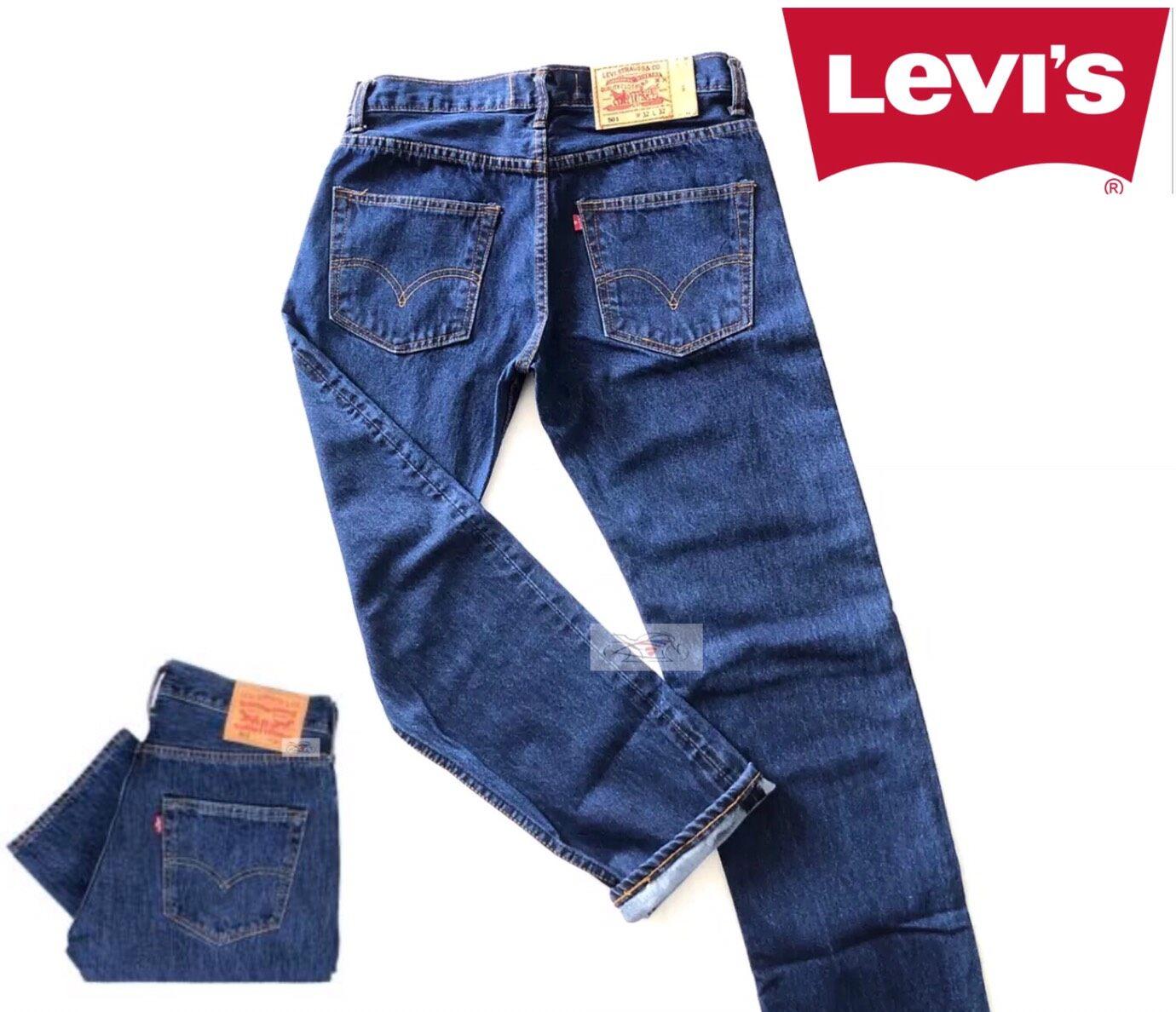 กางเกงยีนส์livis 501ริมแดงทรงกระบอก กางเกงยีนส์ชาย กางเกงยีนส์หญิง กางเกงลีวายส์กางเกงขายาว.