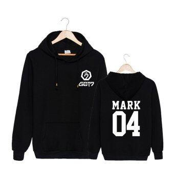 ALIPOP Kpop Fashion GOT7 Meeting Album Concert Cotton Hoodies HatClothes Pullovers Sweatshirt PT434(MARK Black) - intl