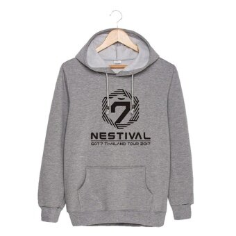 ALIPOP KPOP Korean Fashion GOT7 Nestival Tour Thailand AlbumConcert Cotton Hoodies Hat Clothes Pullovers Sweatshirt PT438(Gray)- intl