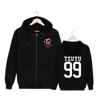 ALIPOP Kpop Korean Fashion TWICE Third Mini Album TWICEcoasterLANE1 Cotton Zipper Hoodies Clothes Zip-up SweatshirtsPT290(TZUYU99) - intl