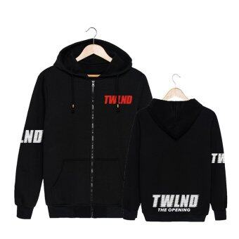 ALIPOP Kpop Korean Fashion TWICE Twiceland Album Concert THE STORYBEGINS Cotton Zipper Hoodies Clothes Zip-up SweatshirtsPT396(Black) - intl