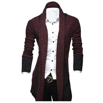 Autumn & Winter New Men's Casual Cardigan Sweatshirt SlimPersonality Long Business Gentleman Clothing Sweaters - intl
