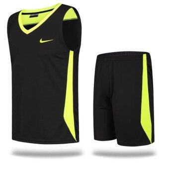 Basketball Suit Suit Men Basketball Training Competition UniformsAdult Basketball Vest Black Mamba - intl