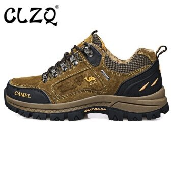 CLZQ 2017 New Men's Professional Hiking Shoes WaterproofWear-resistant Outdoor Sports Shoes-Brown - intl