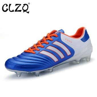 CLZQ Grass Training Men Football Shoes Breathable Outdoor Sports Shoes-Blue - intl