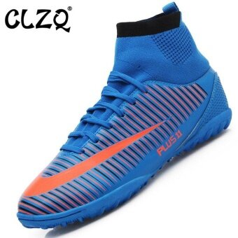 CLZQ Men 's Outdoor Sports Football Shoes Professional CompetitionTraining Sneakers Blue - intl