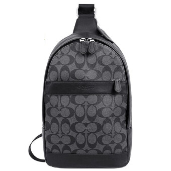 COACH กระเป๋า CHARLES PACK IN SIGNATURE F54787 (CHARCOAL/BLACK)