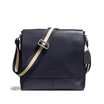 COACH กระเป๋า CHARLES SMALL MESSENGER IN SPORT CALF LEATHER F72362 (MIDNIGHT)