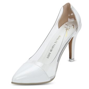 Harga Elegant Pointed Toe See-through Thin High Heel Women Shoes - intl