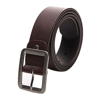 Fang Fang Fashion Men Casual Car Buckle Belt (Brown)