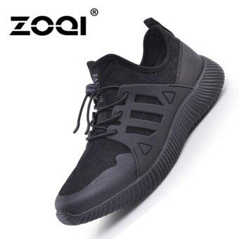 Harga Fashion Running Shoes ZOQI Men's Sports Shoes Sneaker (Black) -intl