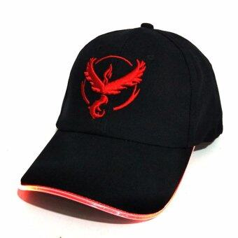 Hequ New fashion Baseball capsHot style LED fiber optic hat PokemonPokemon GO light hat fashion chic style Red - intl