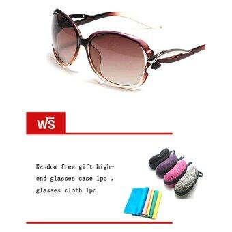 Harga DAKIN แว่นตากันแดด รุ่น T5256- Polarized Light Brown (Free glasses case glasses cloth)