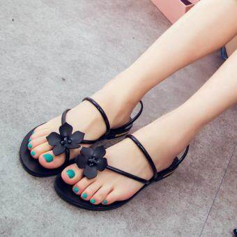 Harga TB The new sweet sandals toe sandals Black - intl