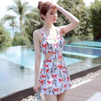 Harga Womens Swimsuit Swimwear One-Piece Siamese Graphic Swimsuits - intl