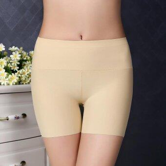 Harga Women Ice Silk Modal Safety Pants Dance Yoga Sport Short legging Underwears Boxers Boyshort (Skin)